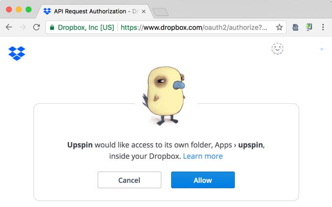 Dropbox Specific Server Setup Instructions Upspin