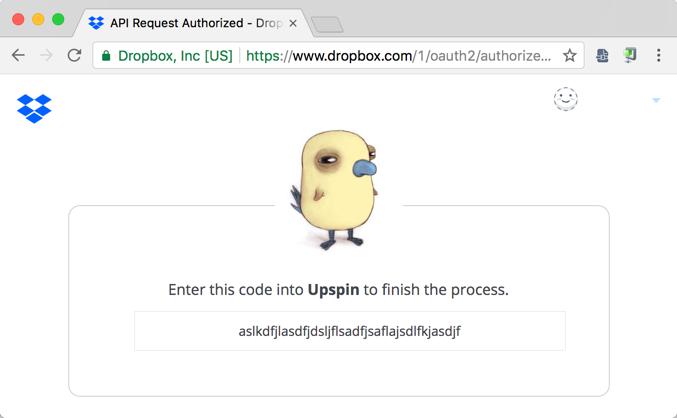 Dropbox-specific server setup instructions · Upspin