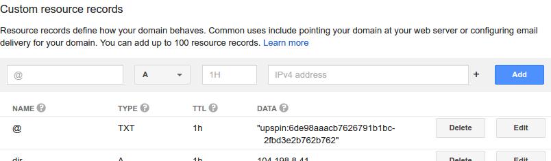 DNS Entries